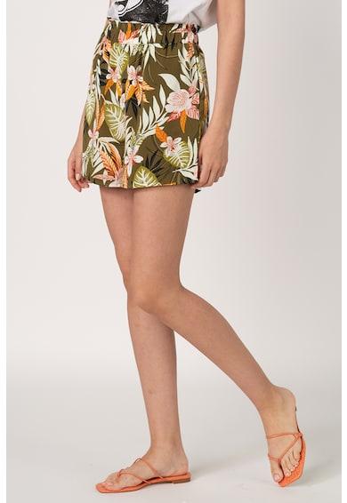 Only Pantaloni scurti cu talie inalta si model tropical Lizbeth Femei