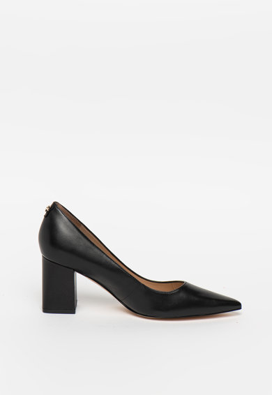 Guess Pantofi de piele cu varf ascutit si toc masiv Femei