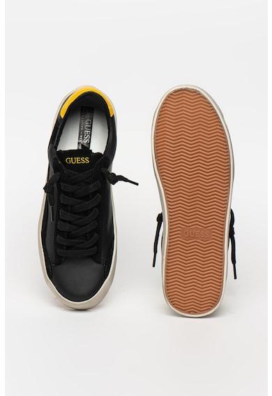 Guess Pantofi sport de piele si piele ecologica Barbati