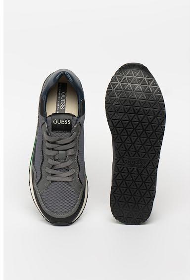 Guess Pantofi sport de piele ecologica cu insertii de plasa Barbati