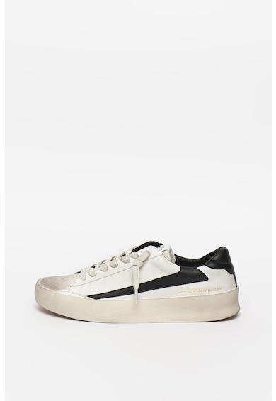 Guess Pantofi sport de piele si piele ecologica cu aspect uzat Barbati