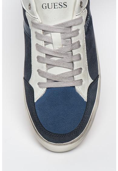 Guess Pantofi sport cu insertii din piele intoarsa Barbati