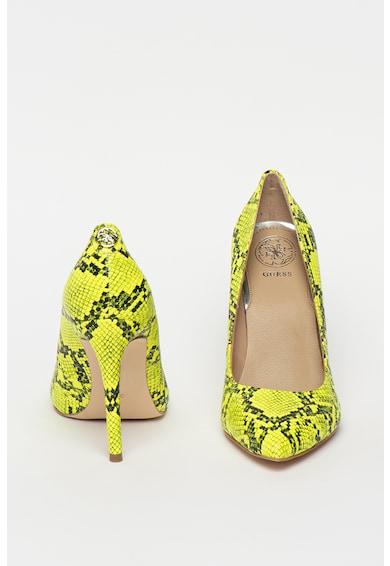 Guess Pantofi de piele ecologica, cu model piele de reptila Femei