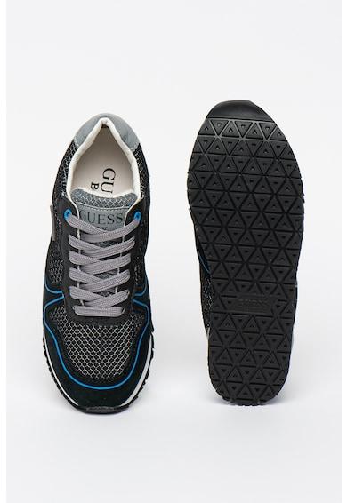 Guess Pantofi sport de piele intoarsa cu insertii de plasa si piele ecologica Fete