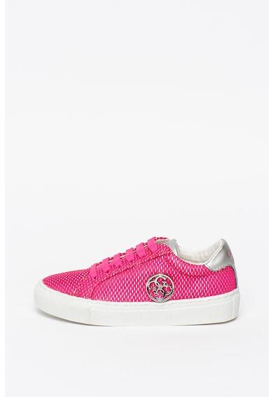 Guess Pantofi sport din material textil si piele ecologica Lucy Fete