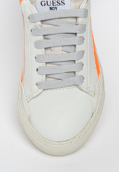 Guess Pantofi sport de piele ecologica si material textil Luiss Fete
