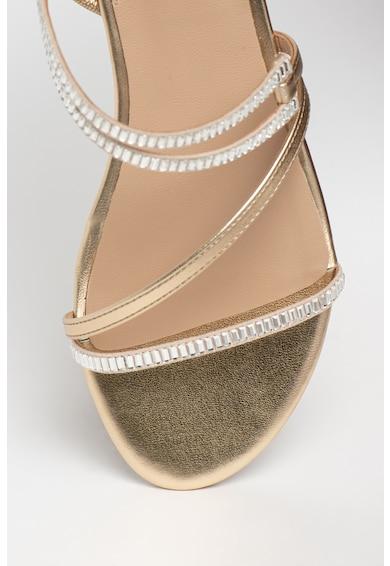 Guess Sandale de piele ecologica cu aplicatii de strasuri Ravena Femei
