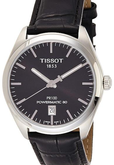 Tissot Часовник Powermatic 80 PR100 с шагрен на каишката Мъже
