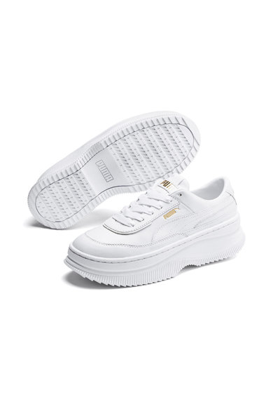 Puma Pantofi sport flatform de piele Deva Femei