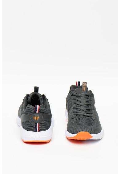 U.S. Polo Assn. Pantofi sport de plasa, cu insertii de piele ecologica Sam Barbati