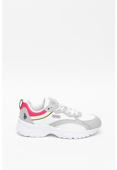 U.S. Polo Assn. Pantofi sport de piele ecologica Tracey Femei