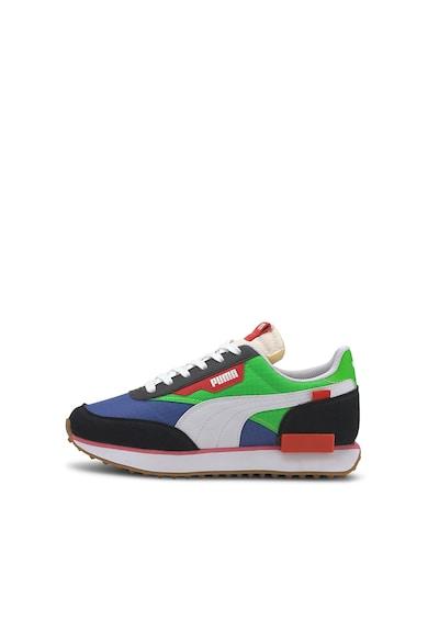 Puma Pantofi sport cu model colorblock si garnituri din piele si piele intoarsa Future Rider Play On Fete