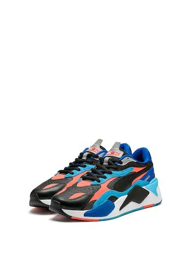 Puma Pantofi cu garnituri de piele intoarsa si piele, pentru alergare RS-X Level Up Barbati
