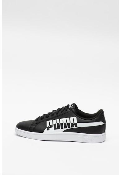 Puma Pantofi sport de piele ecologica, cu imprimeu logo Smash v2 Max Barbati