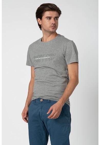 BLEND Tricou cu model text stantat Barbati