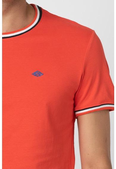 BLEND Tricou din bumbac cu detalii contrastante Barbati