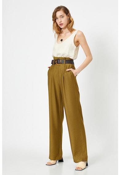 KOTON Pantaloni drepti cu talie inalta Femei