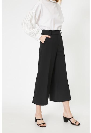 KOTON Pantaloni culotte cu pense si curea Femei