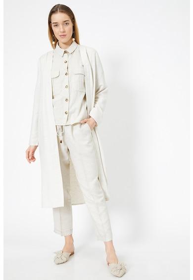 KOTON Pantaloni crop din amestec de in Femei