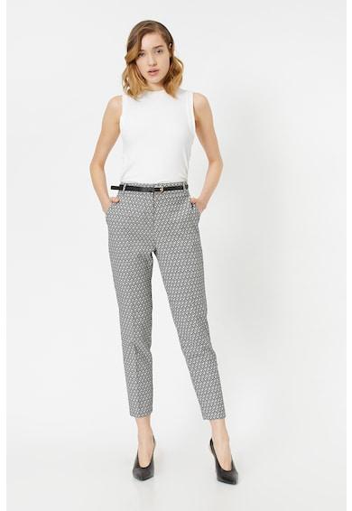 KOTON Pantaloni cu talie inalta si model geometric Femei