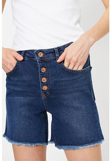 KOTON Pantaloni scurti din denim cu terminatii franjurate Femei