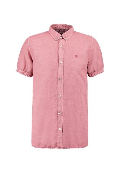 Garcia Риза с лен, памук и захабен ефект Мъже