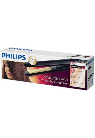 Philips Placa de indreptat parul  KeraShine /00, 230°C, invelis ceramic cu infuzie de cheratina, setari digitale, incalzire 30 de secunde, Negru Femei