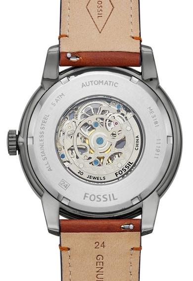 Fossil Ceas automatic cu o curea de piele Townsman Barbati