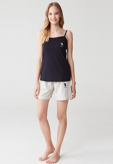 U.S. Polo Assn. Pijama scurta cu imprimeu logo Femei