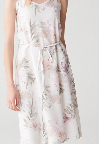 U.S. Polo Assn. Camasa de noapte cu model floral si decolteu in V Femei