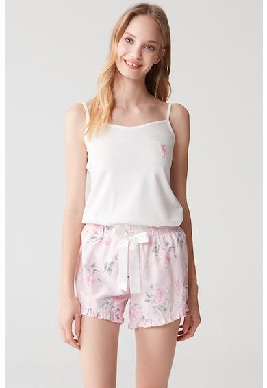 U.S. Polo Assn. Pijama scurta cu imprimeu floral Femei