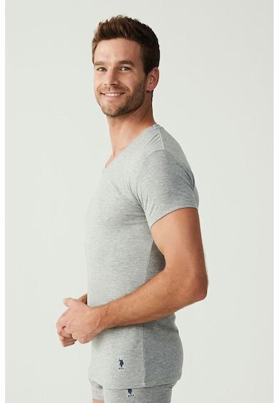 U.S. Polo Assn. U.S.Polo Assn., Set de tricouri de casa cu decolteu in V - 2 piese Barbati