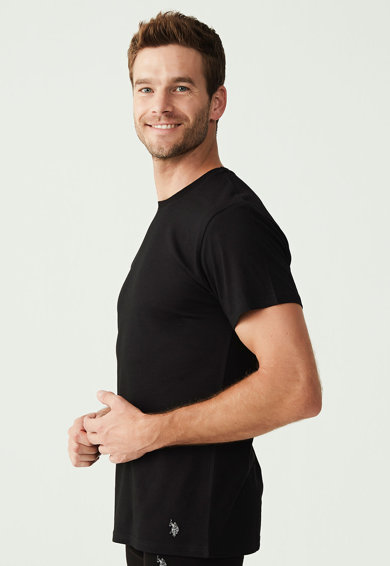 U.S. Polo Assn. Set de tricouri de casa cu decolteu la baza gatului - 2 piese Barbati