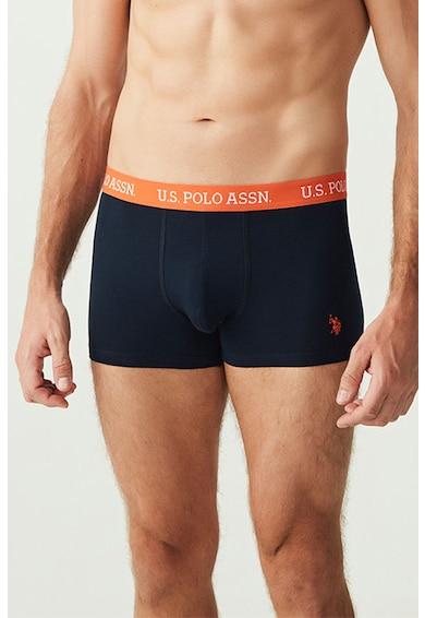 U.S. Polo Assn. Set de boxeri din amestec de bumbac, cu banda logo in talie - 3 perechi Barbati