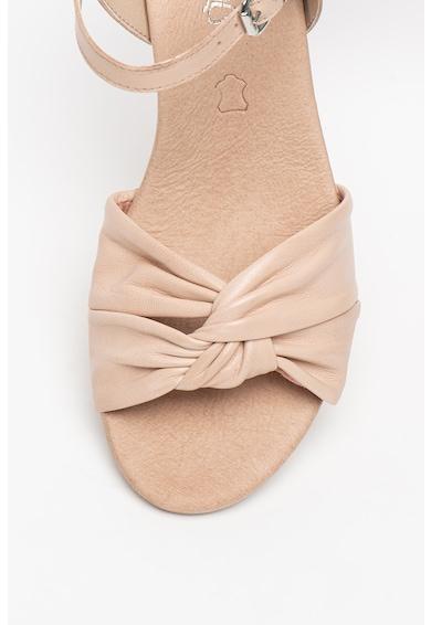 Caprice Sandale wedge de piele ecologica cu model cu pliuri Femei