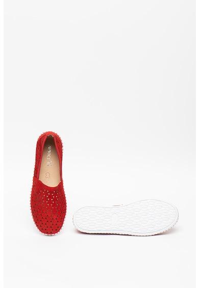 Caprice Pantofi slip-on de piele nabuc cu decupaje Femei