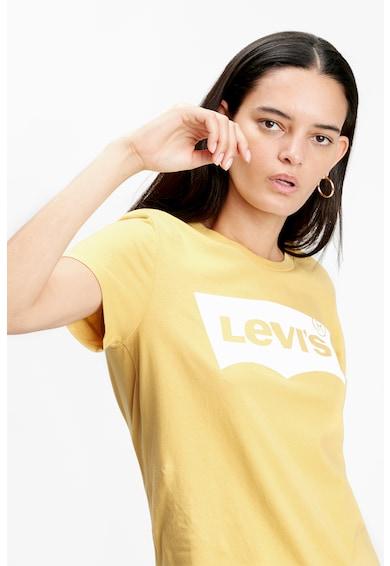 Levi's Tricou cu decolteu la baza gatului si imprimeu logo A Femei