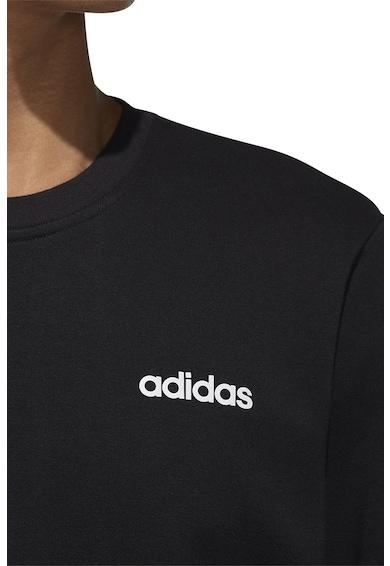 adidas Performance Kerek nyakú fitneszpulóver logóval férfi