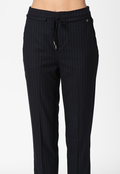 Pepe Jeans London Aurelie straight fit nadrág csíkos mintával női