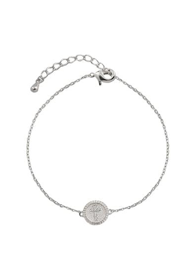 OXETTE Bratara din argint 925 veritabil cu pandantiv circular Femei