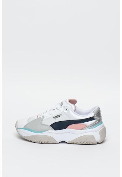 Puma Pantofi sport cu model colorblock si garnituri de piele ecologica Storm.Y Femei