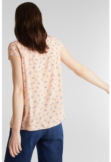 Esprit Риза с къси ръкави и флорален десен Жени