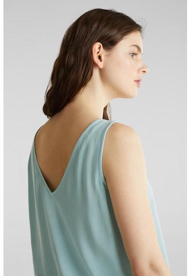 Esprit Блуза с шпиц деколте без ръкави Жени