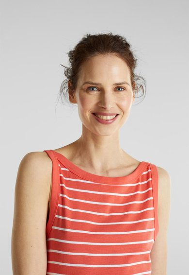 Esprit Раиран топ от органичен памук Жени