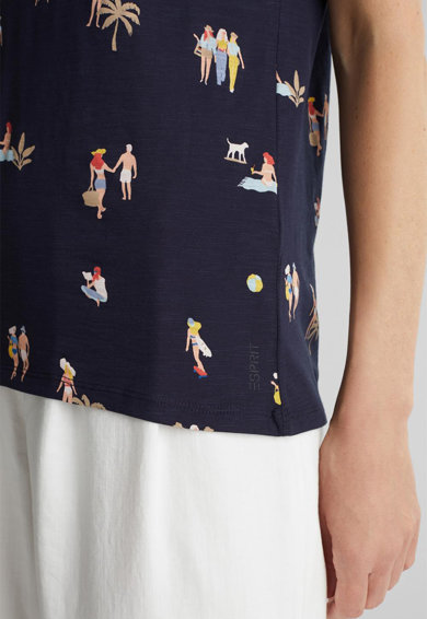 Esprit Tricou din bumbac cu imprimeu Femei