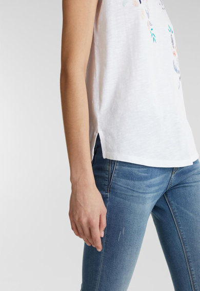 Esprit Свободна тениска с флорален десен Жени