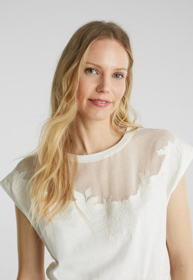 Esprit Разкроена рокля с мрежа Жени
