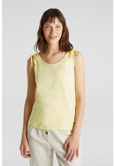 Esprit Блуза от органичен памук без ръкави Жени