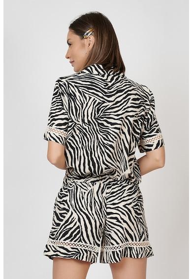 Nighters Pijama scurta cu imprimeu zebra Femei