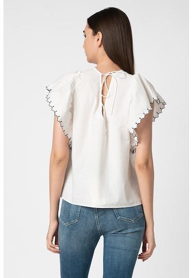 Vero Moda Bluza din bumbac organic cu maneci fluture Laci Femei